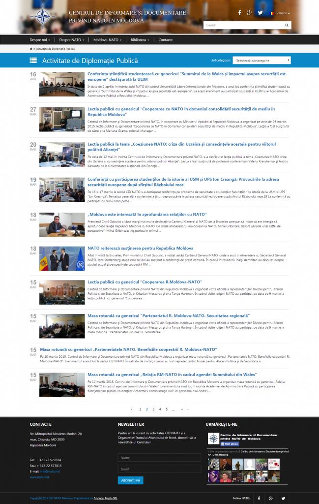 Activitate de Diplomație Publică Arhive   Pagina 2 din 8   Centrul de Informare si Documentare privind NATO în Moldova
